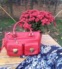 Crvena vintage tašna