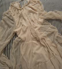 rezz Puder roze leprsava HM haljina s tufnama