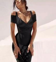 HERVE LEGER crna haljina S