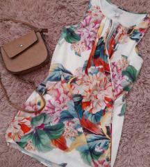 H&M Cvetna majica tunika haljinica s