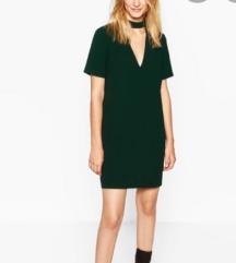 Zara choker zelena haljina