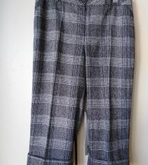 Pantalone ženske FRATTELI'S karo dezen VUNA