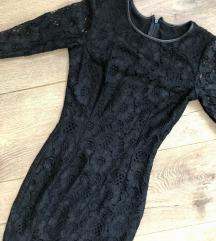 SNIŽENO NOVO Cipkana crna haljina