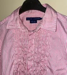Ralph Lauren original ženska roza prugasta košulja