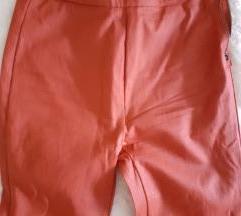 pull&bear crvene kozne pantalone NOVE