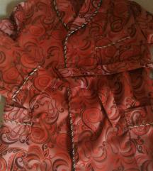 Vintage svileni kratki unikatni kućni ogrtač