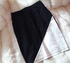 Crno bela suknja