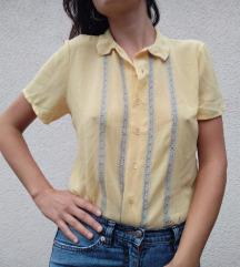Žuta košulja sa kratkim rukavima