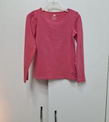 H&M bodi majica boje maline 122/128
