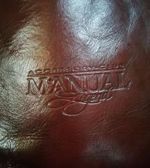 Manual kožna braon torba