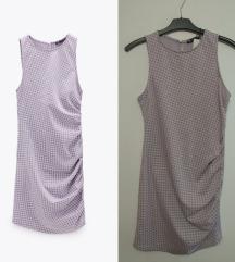 Nova sa etiketom Zara pepito lila bela haljina M