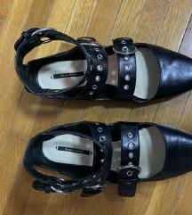 ZARA kozne ravne cipele