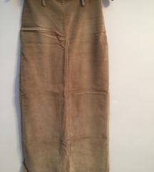 Krem somotska suknja do glaznjeva
