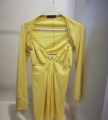 Žuta majica sa bolerom Pronto