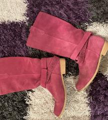 Pink kozne cizme