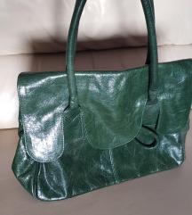 %5.700-Emporio Tamburini kožna vintage torba