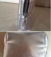 Yves Saint Laurent argent pouch, original