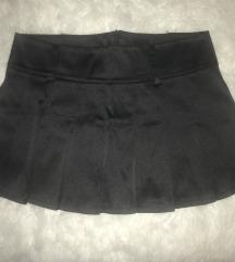 Satenska crna mini suknjica