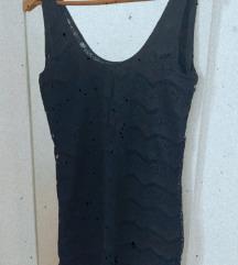 Crna haljina/spavaćica od čipke