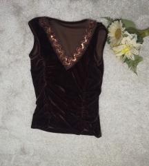 plisana braon bluza S/M