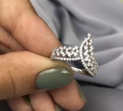 Prsten krunica sa cirkonima