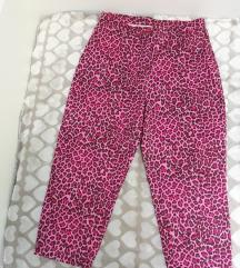 Animal print 3/4 pantalone