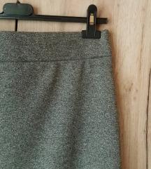 Pencil Siva Suknja *AKCIJA*