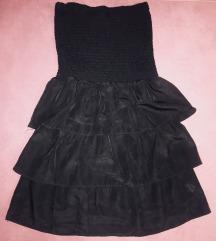Crna top haljina tunika letnja