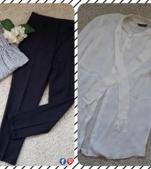 Pantalone na crtu i Massimo Dutti kosulja bluza 😻