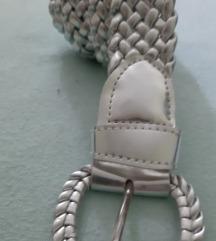 Kaiš srebrni pleteni