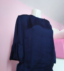 Teget svilena bluza