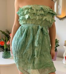 Italijanska letnja zelena haljina