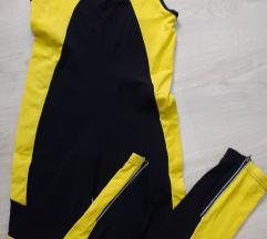 Crane zuto crni deblji triko sa zipovima