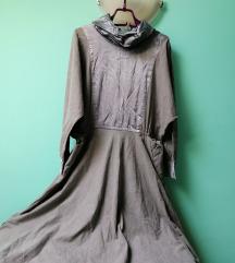 Neobicna retro midi haljina vel.42 AKCIJA