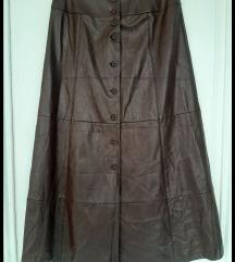 Kožna suknja,38/M,kao nova