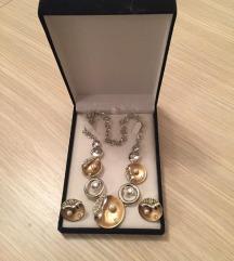 Komplet ogrlica-minđuše Oriflame, bižuterija-NOVO