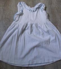 Preslatka plavo-beli karo haljinica