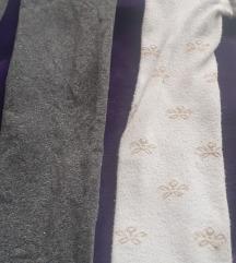 Najlon i pamucne sive i bele hulahopke, 98