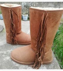 Braon/krem eskimke cizme za zimu