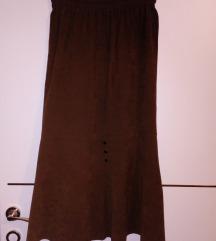 Braon suknja,dugacka,38