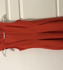 Koralno crvena haljina A kroja