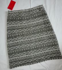 Maslinasta zimska suknja NOVO sa etiketom