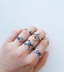 Aztec set prstenja - 6 kom/silver *NOVO*