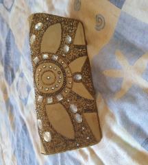 Elegantna torbica zlatna