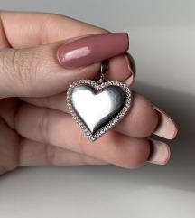 Privezak srce sa cirkonima