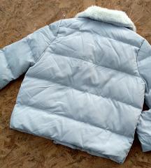 Plava puffer jakna (perjana)
