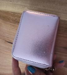 Roze metalik novčanik