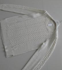 Novi LINDEX  beli džemper -M