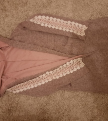 Zenski roze mantil mekani sa cipkom