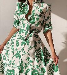 Nova kolekcija Zara haljina vel M